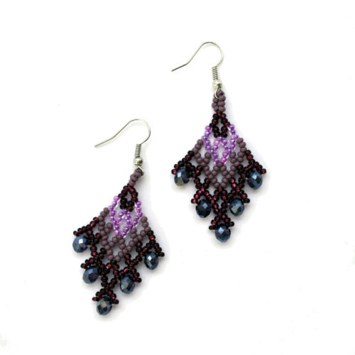 Pair of Crystal Drop Earrings