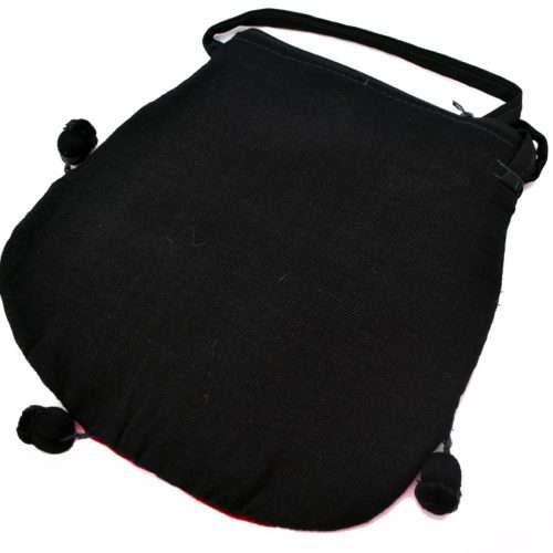 "Pompom Crossbody Bag ""L"""