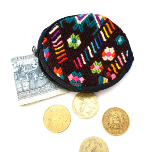 Round Huipil Coin Purse