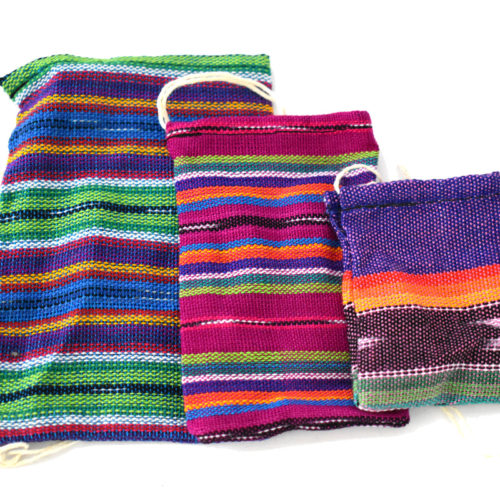 "Pack of Ikat Crystal Pouches ""L"" (20 pieces)"