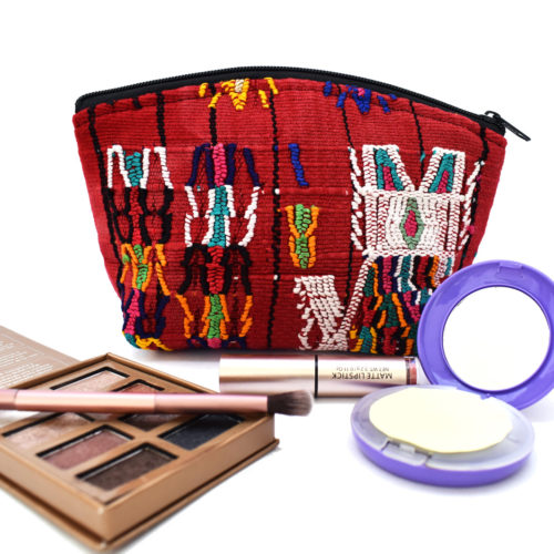 "Huipil Cosmetic Bag with Pompom ""S"""