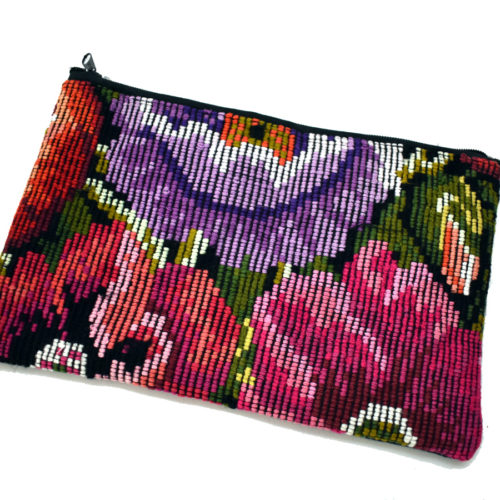 "Single Side Flower Design Cosmetic Bag ""S"""