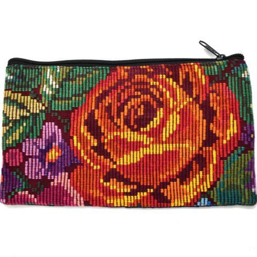 "Single Side Flower Design Cosmetic Bag ""M"""