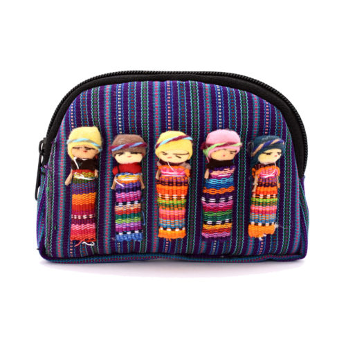 "Halfmoon Zuni Pouch With Worry Dolls ""M"""