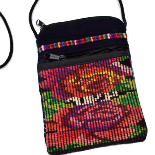 Double Zip Huipil Crossbody Pouch