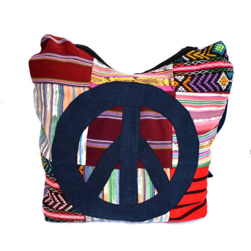 Peace Sign Crossbody Bag