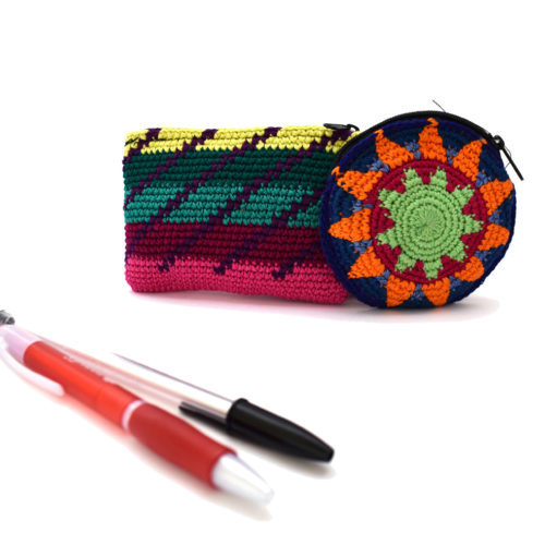 Fine Round Crochet Coin Purse